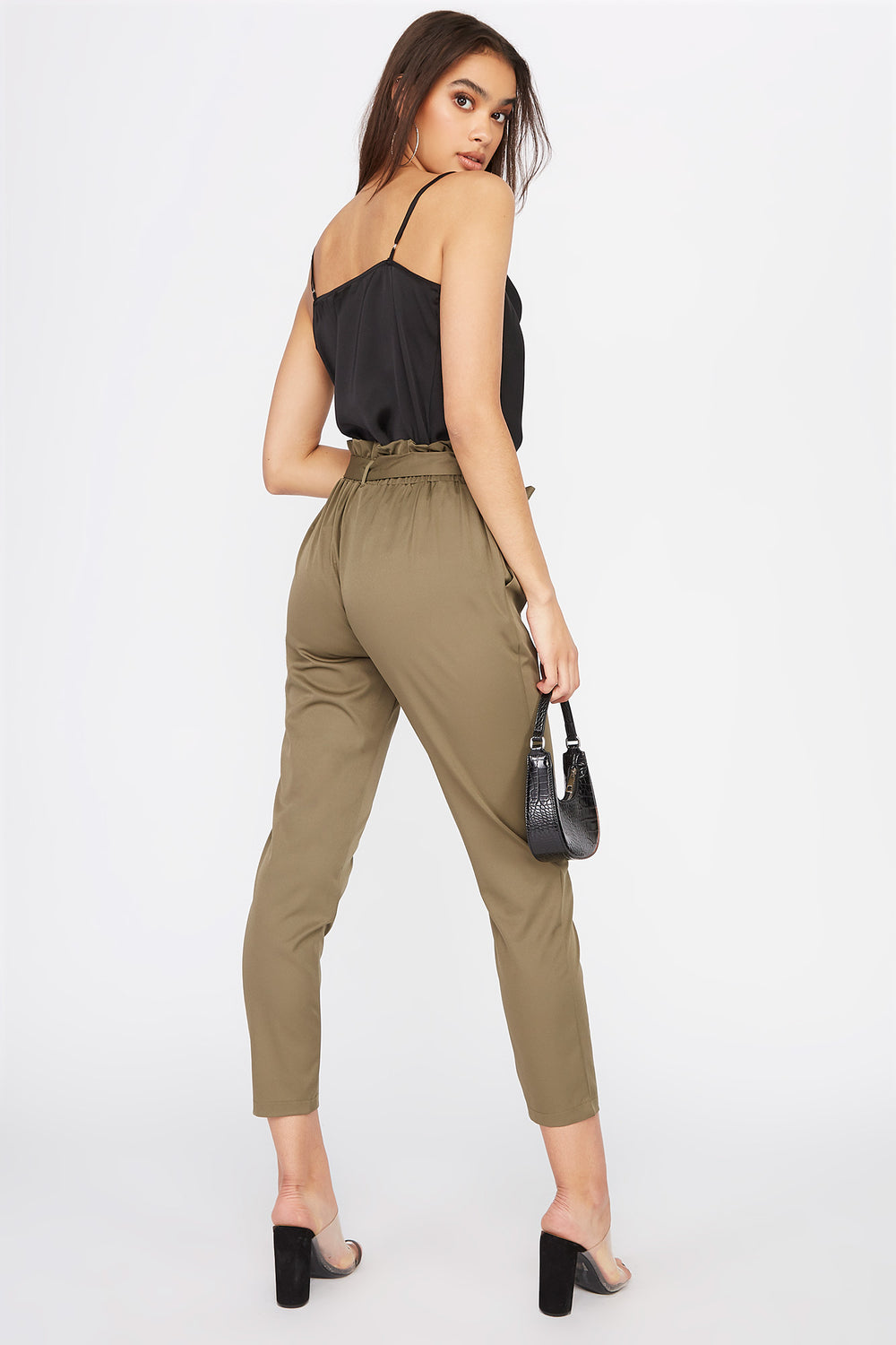 Paperbag Pant Dark Green