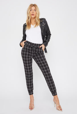 Patterned Drawstring Jogger
