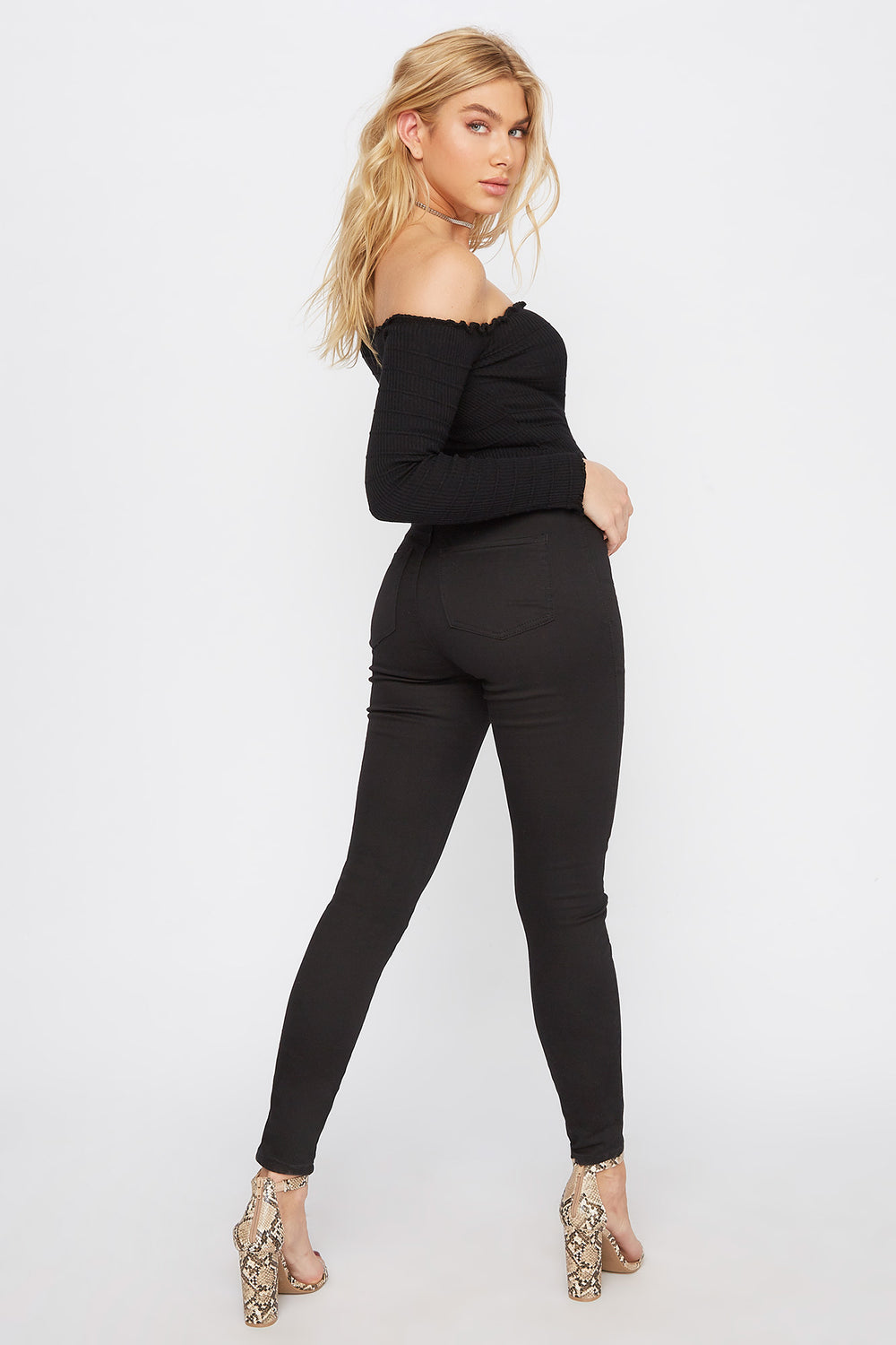 High-Rise Basic Skinny Pant Black