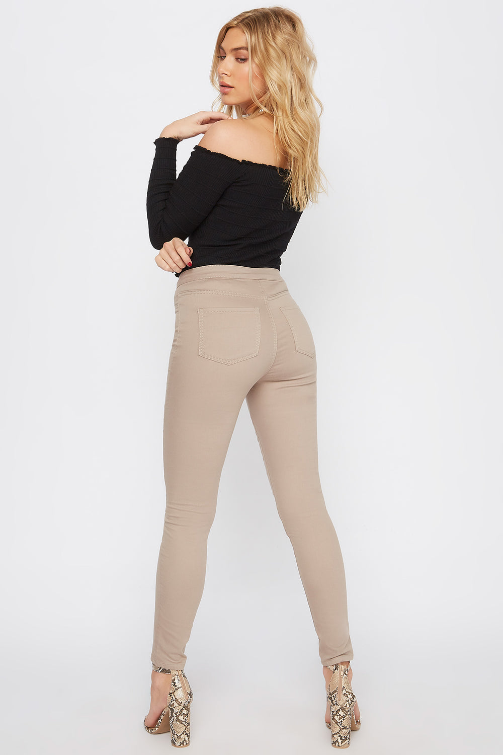 High-Rise Basic Skinny Pant Tan