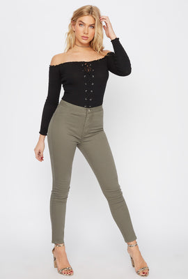 High-Rise Basic Skinny Pant