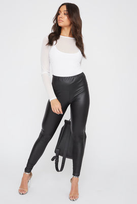Legging de base en similicuir