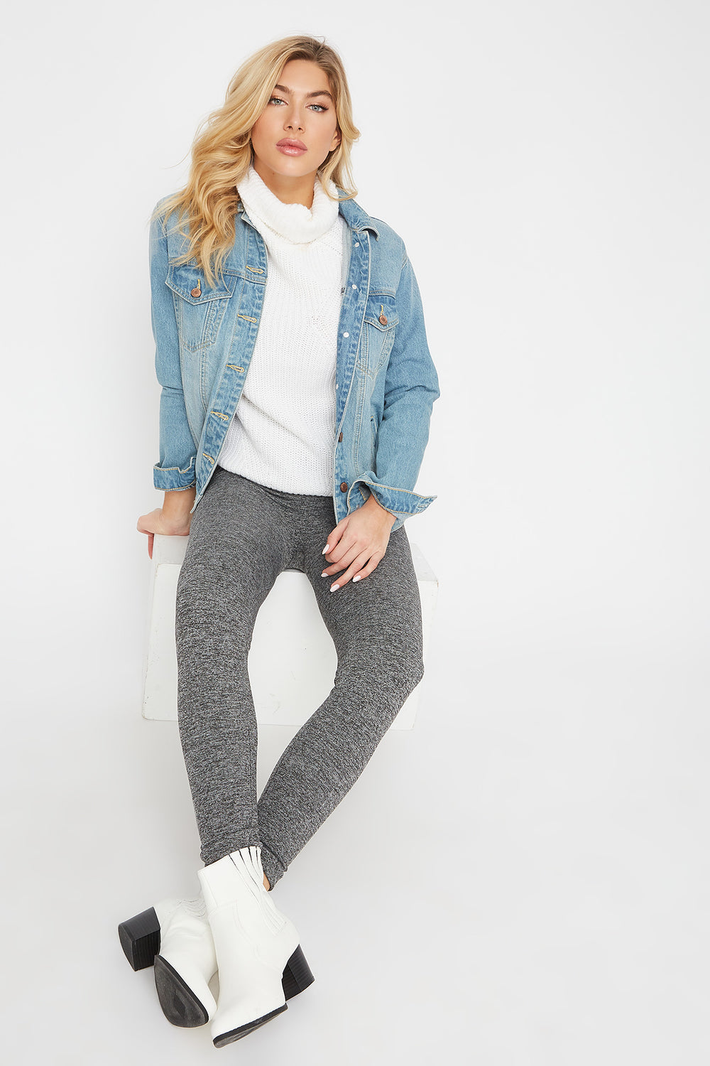 Faux-Fur Legging Heather Grey