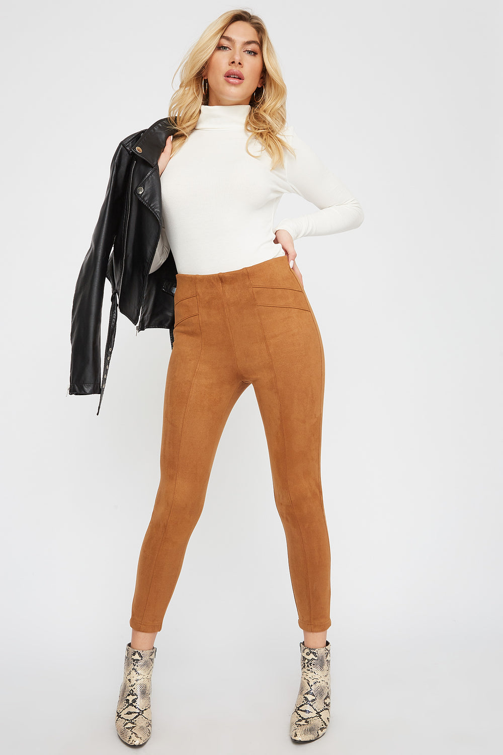 Faux-Suede Pant Brown