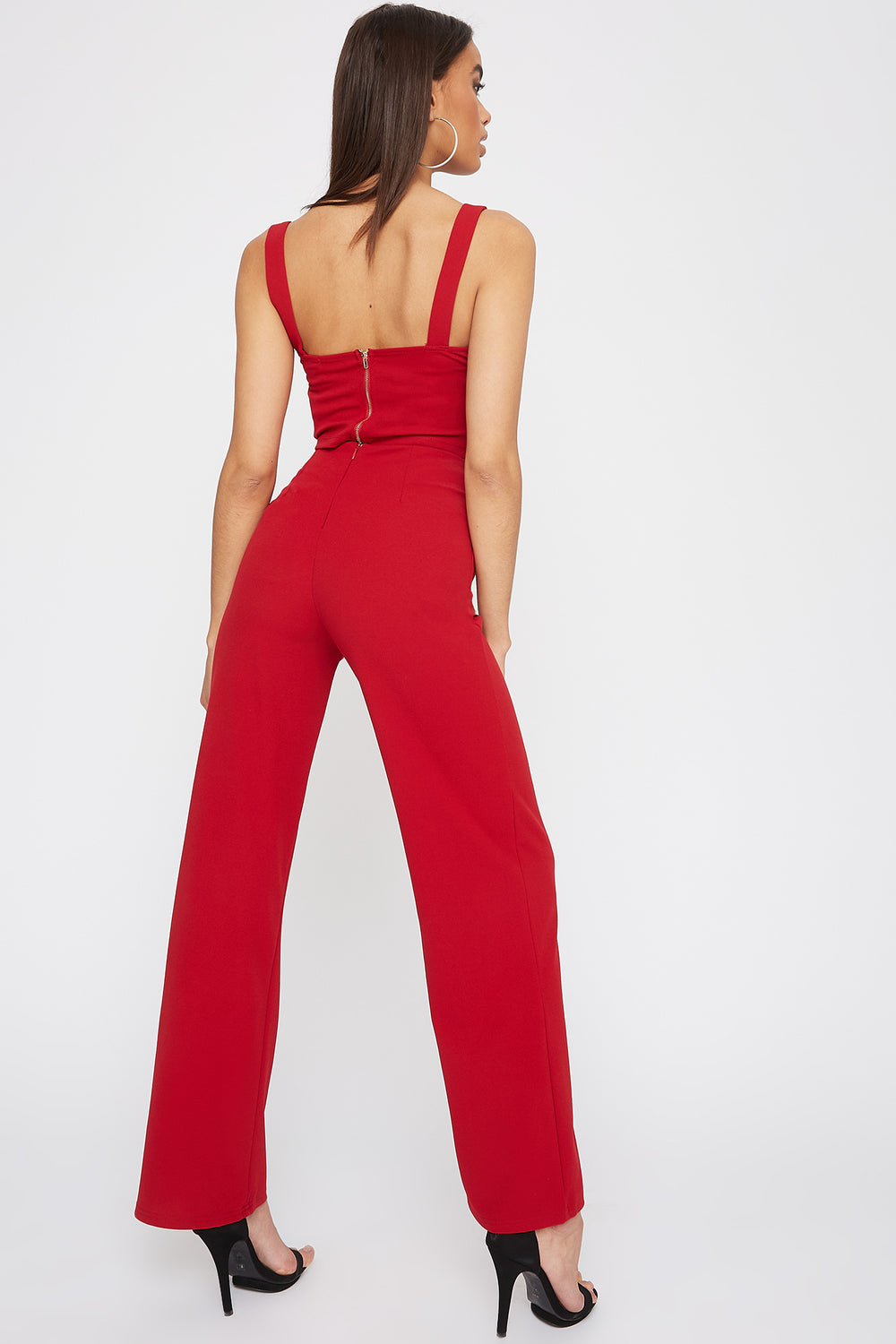High-Rise Palazzo Pant Red