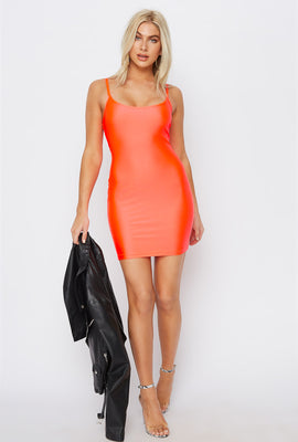 Scoop Neck Crystal Mini Tank Dress