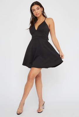 Lace Racerback Skater Dress