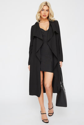 Open-Front Waterfall Duster Cardigan
