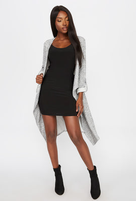 Heather Grey Waterfall Jacket