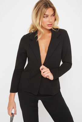 Crepe Single Button Blazer