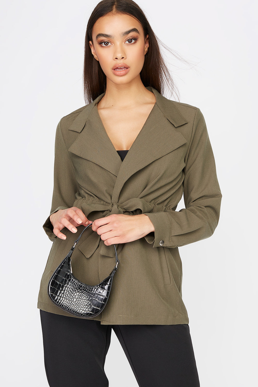 Utility Tie Jacket Dark Green
