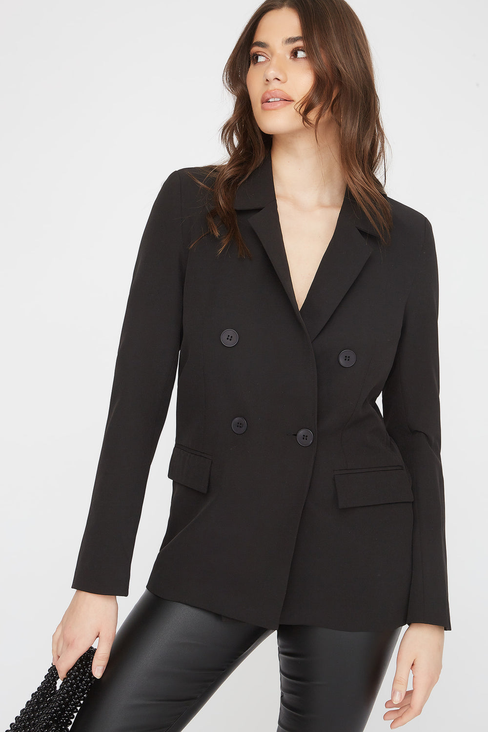 Double Breasted Oversized Blazer Black