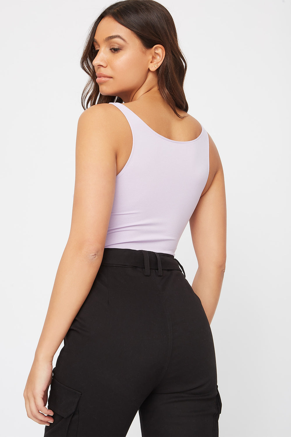 Seamless Scoop Neck Tank Lilac