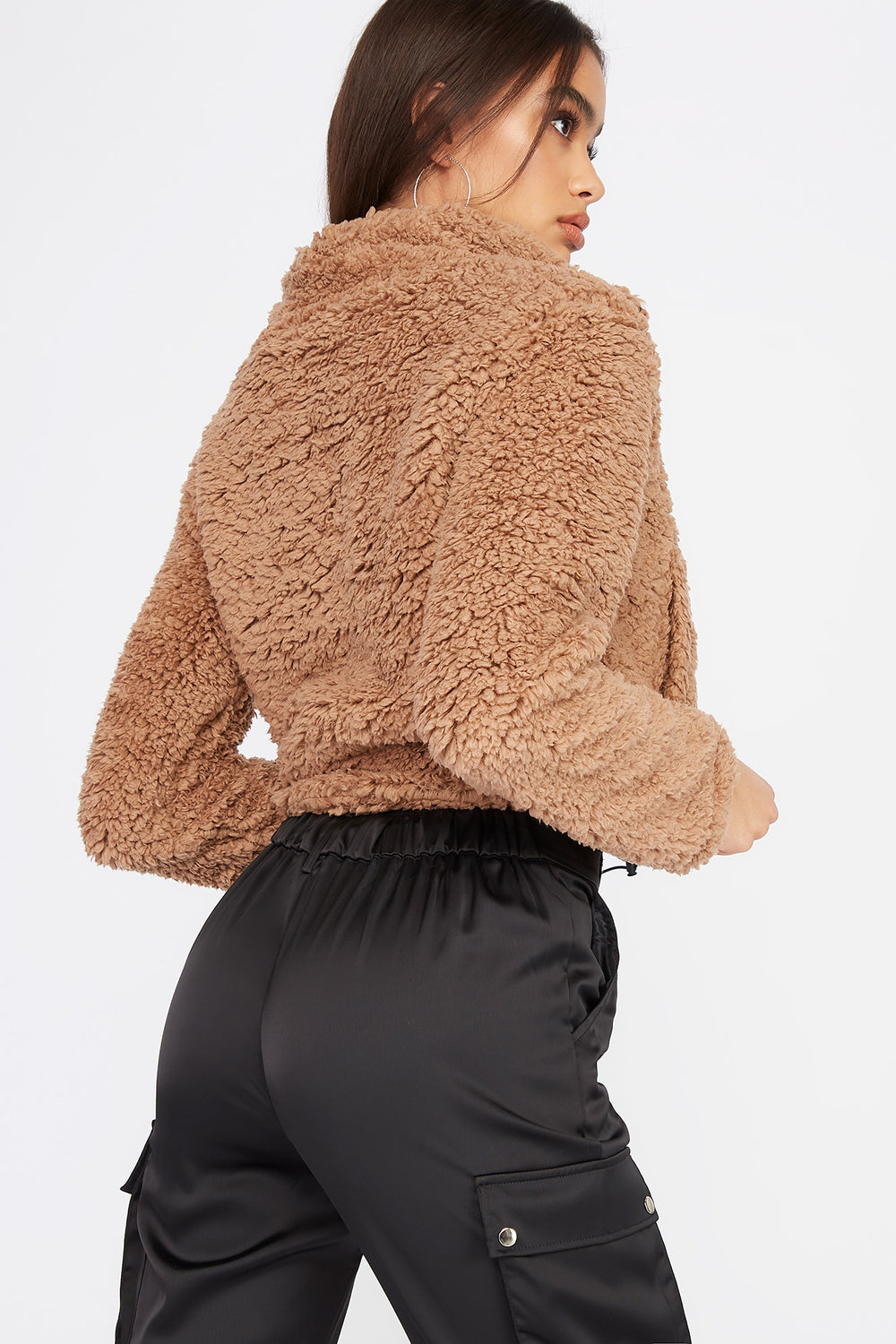 Teddy Bomber Jacket Sand