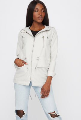 Drawstring Hooded Jacket