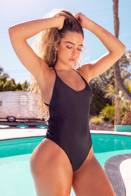 Sommer Ray Criss Cross Back One Piece Swimsuit