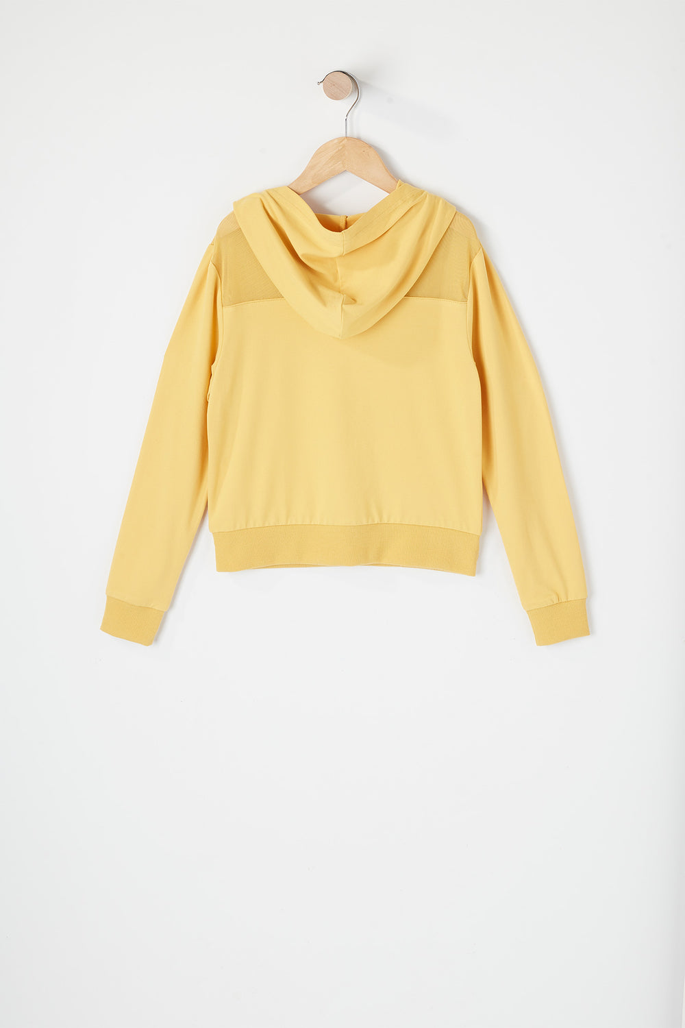 Girls Soft Graphic Mesh Insert Hoodie Gold
