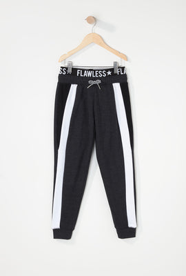 Girls Colour Block Graphic Band Jogger
