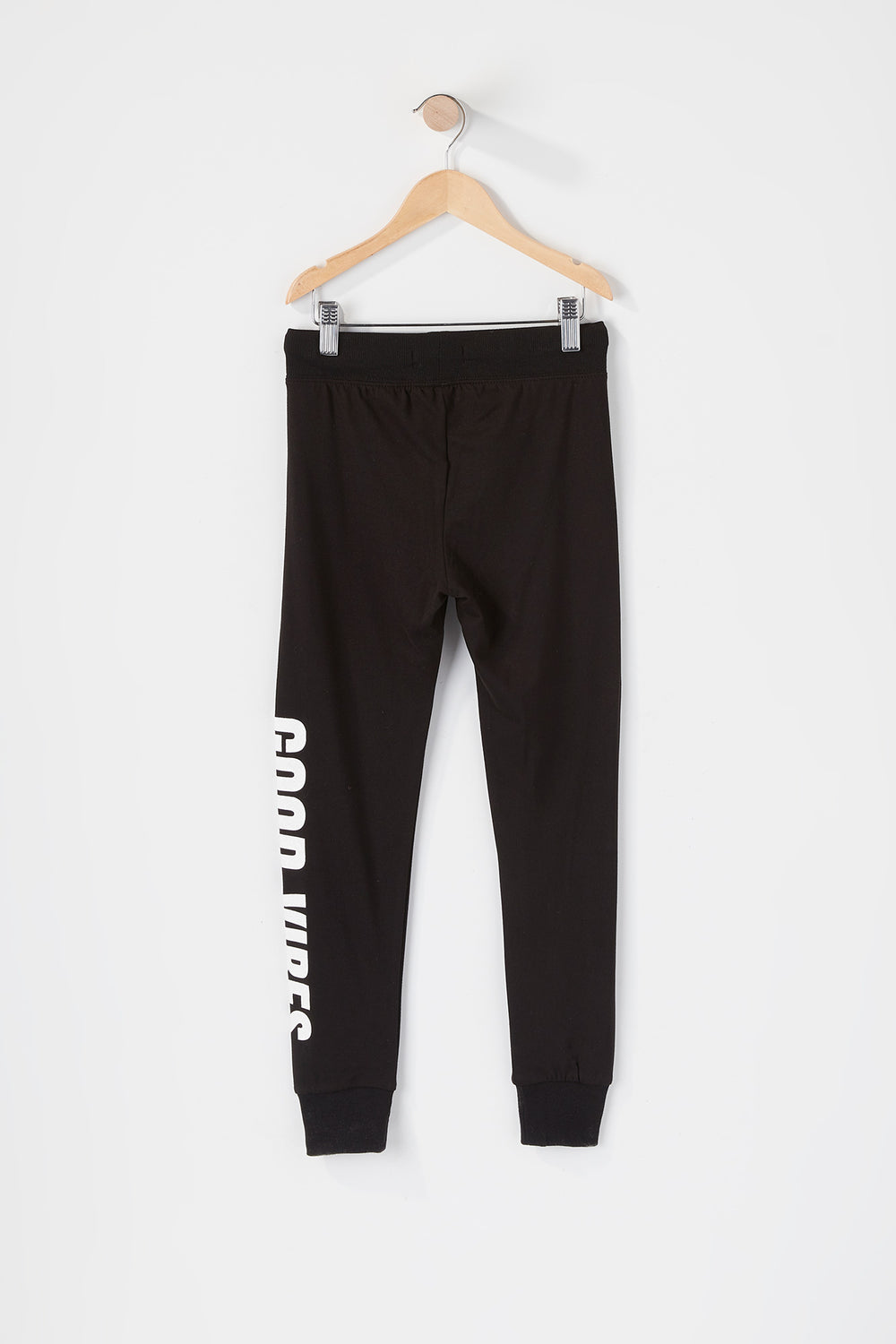 Girls Soft Graphic Jogger Black