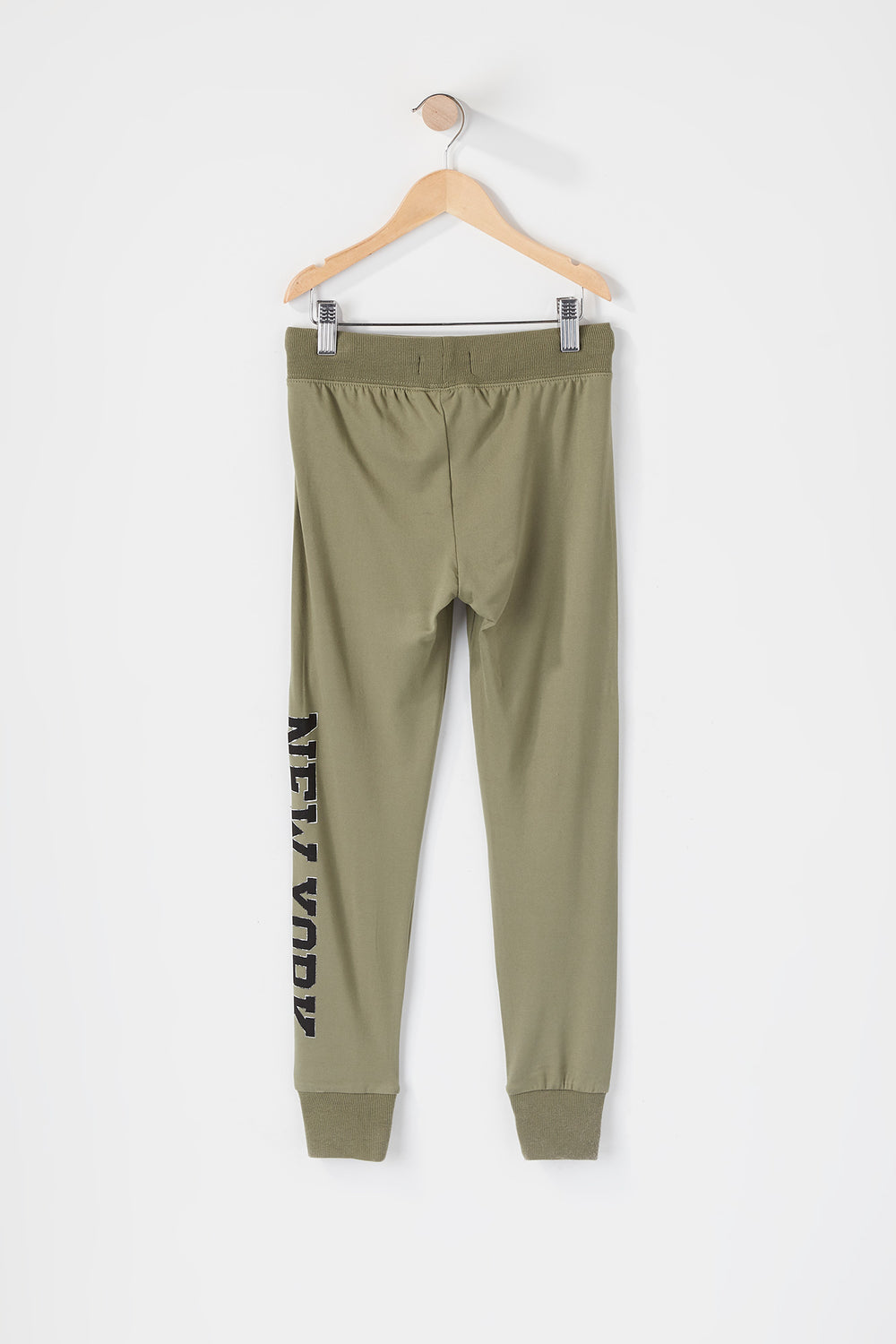 Girls Soft Graphic Jogger Hunter Green