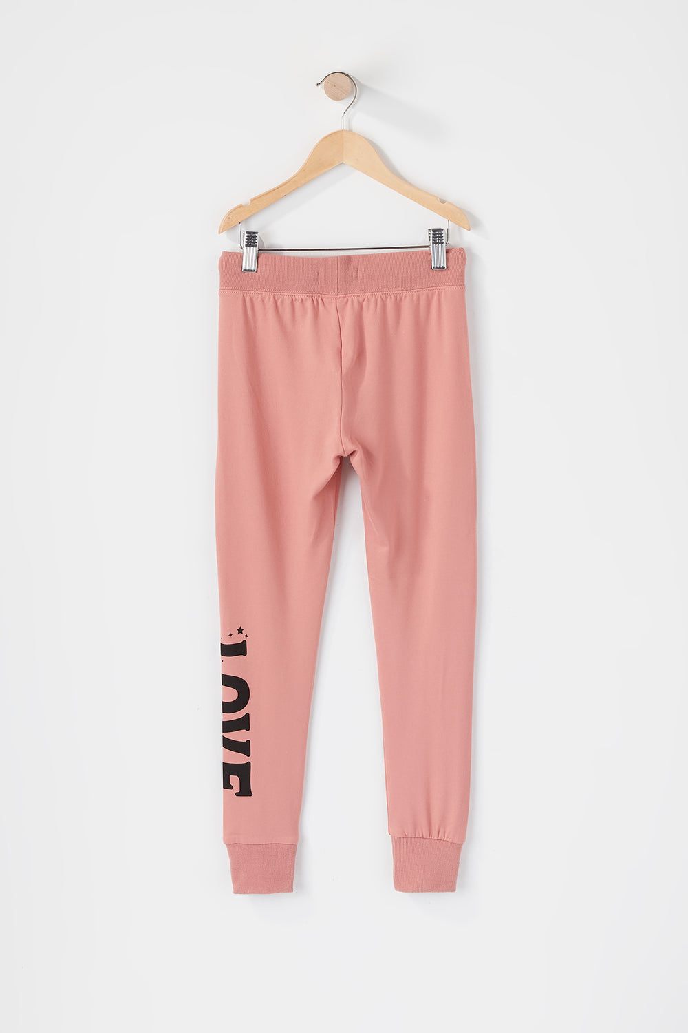 Girls Soft Graphic Jogger Dusty Rose