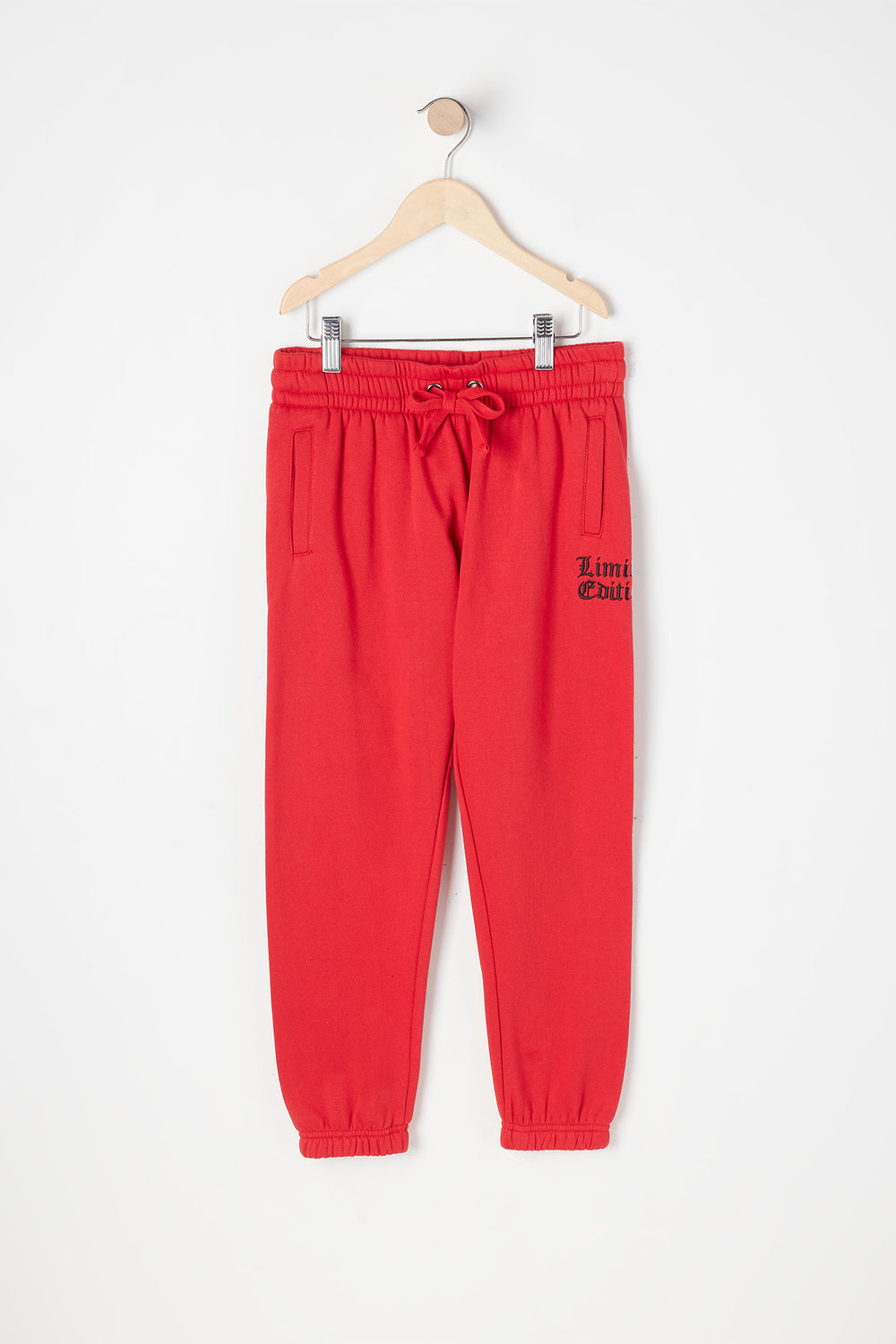 Girls Fleece Limited Edition Graphic Boyfriend Jogger Red