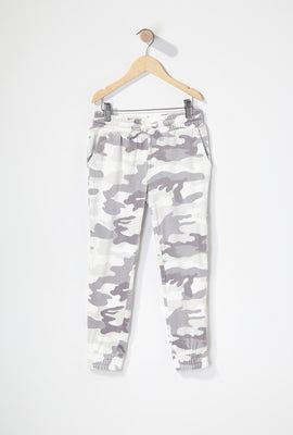 Girls Velour Drawstring Jogger