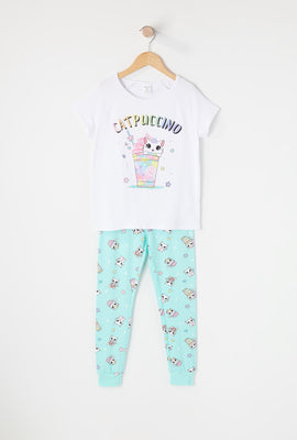 Girls Soft Graphic 2-Piece Pajama Set