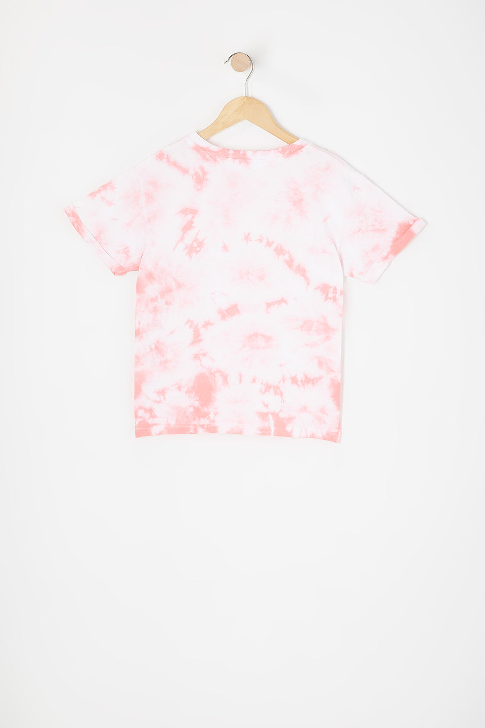 Girls Pink and White Tie Dye Boyfriend T-Shirt Pink