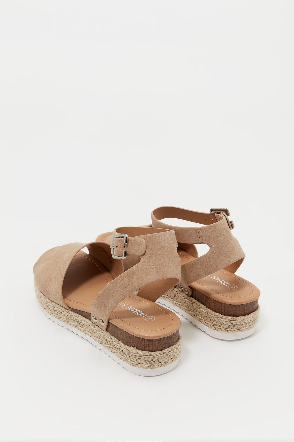 Girls Open Heel Espadrille Sandal Tan