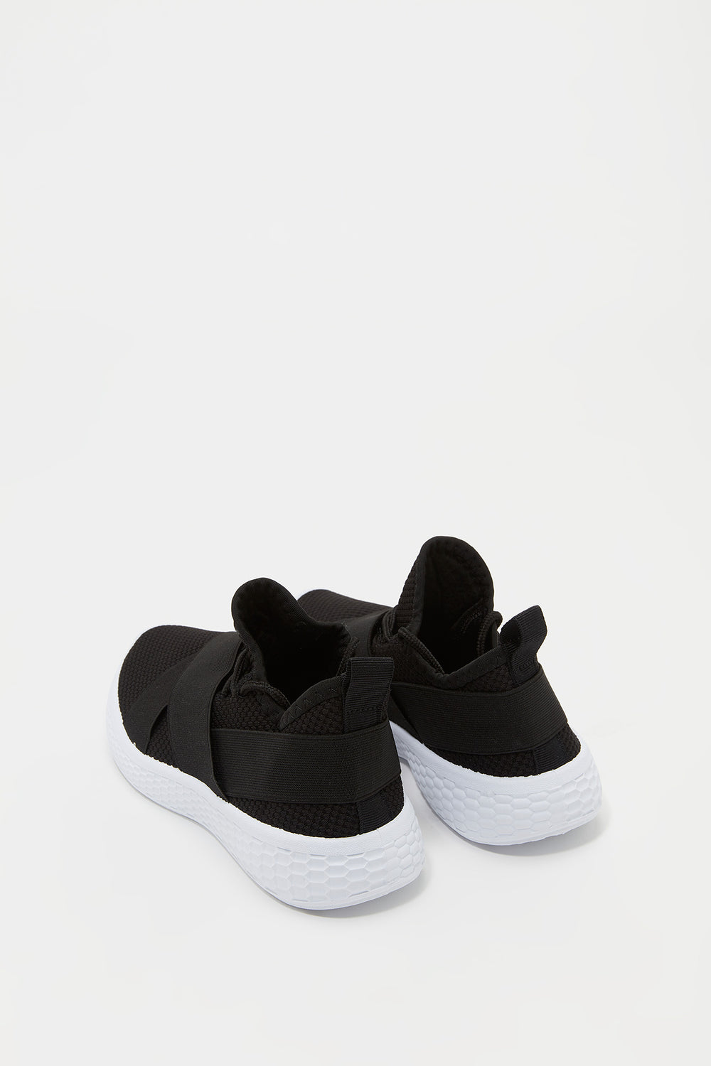 Girls Knit Elasticband Sneaker Black