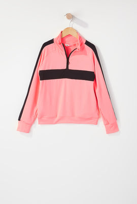Girls Half Zip Active Jacket