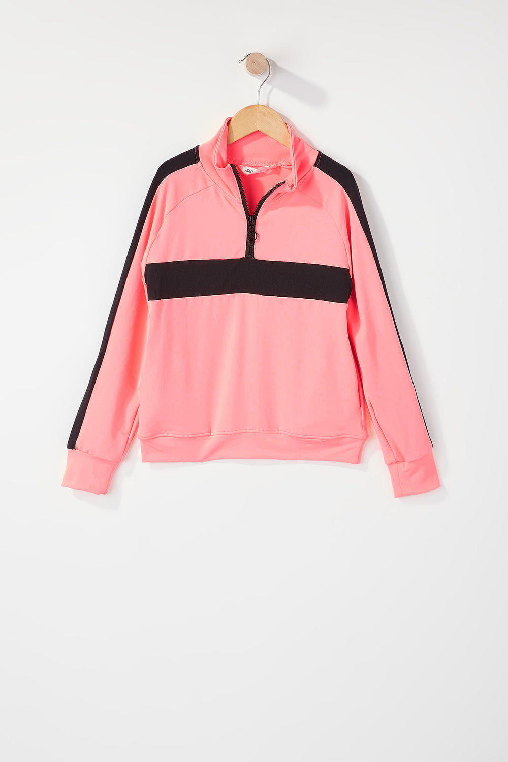 Girls Half Zip Active Jacket Coral