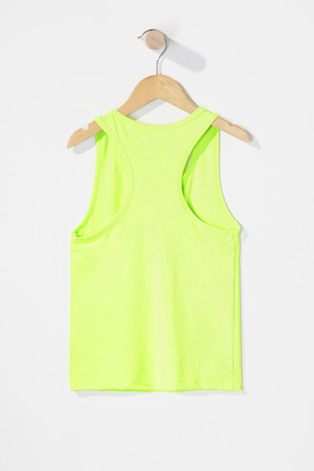 Girls Racerback Active Tank Neon Yellow