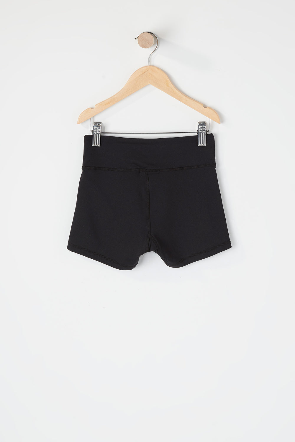 Girls Colour Block Active Short Black