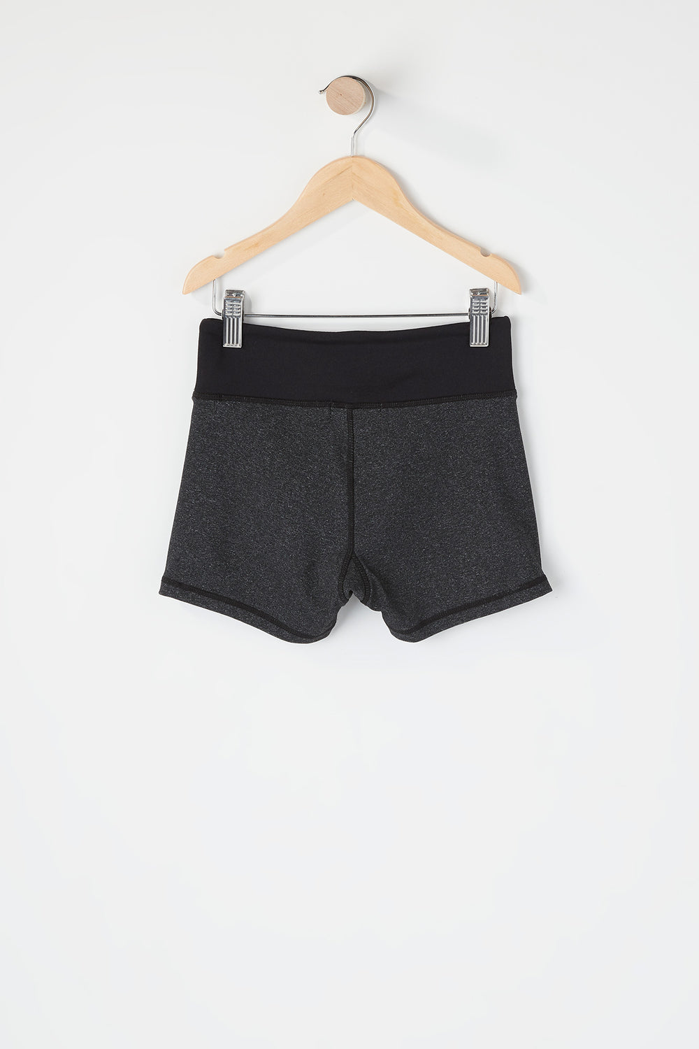 Girls Colour Block Active Short Charcoal