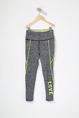 Girls Graphic Contrast Active Legging