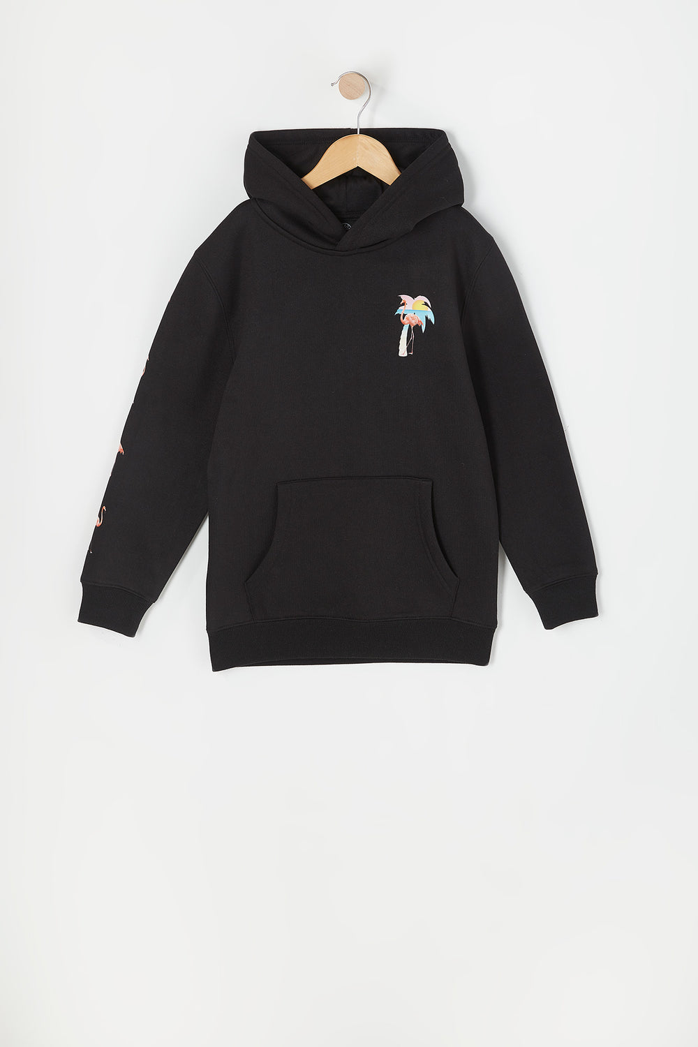Boys Permanent Paradise Graphic Hoodie Black