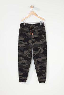 Boys Fleece Camo Classic Jogger