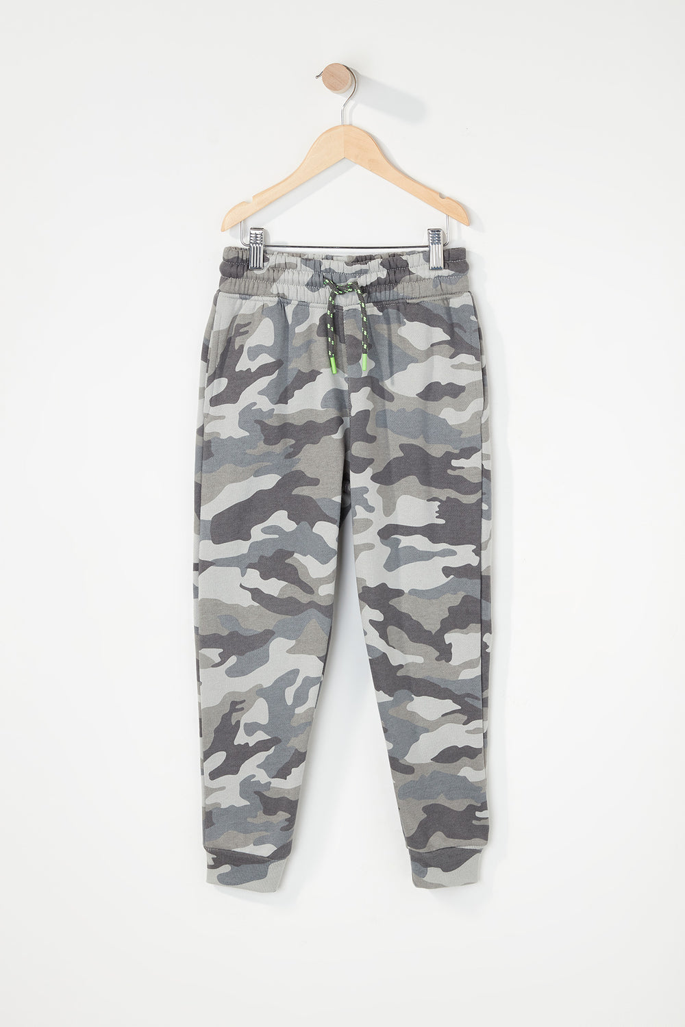 Boys Fleece Camo Classic Jogger Gingham