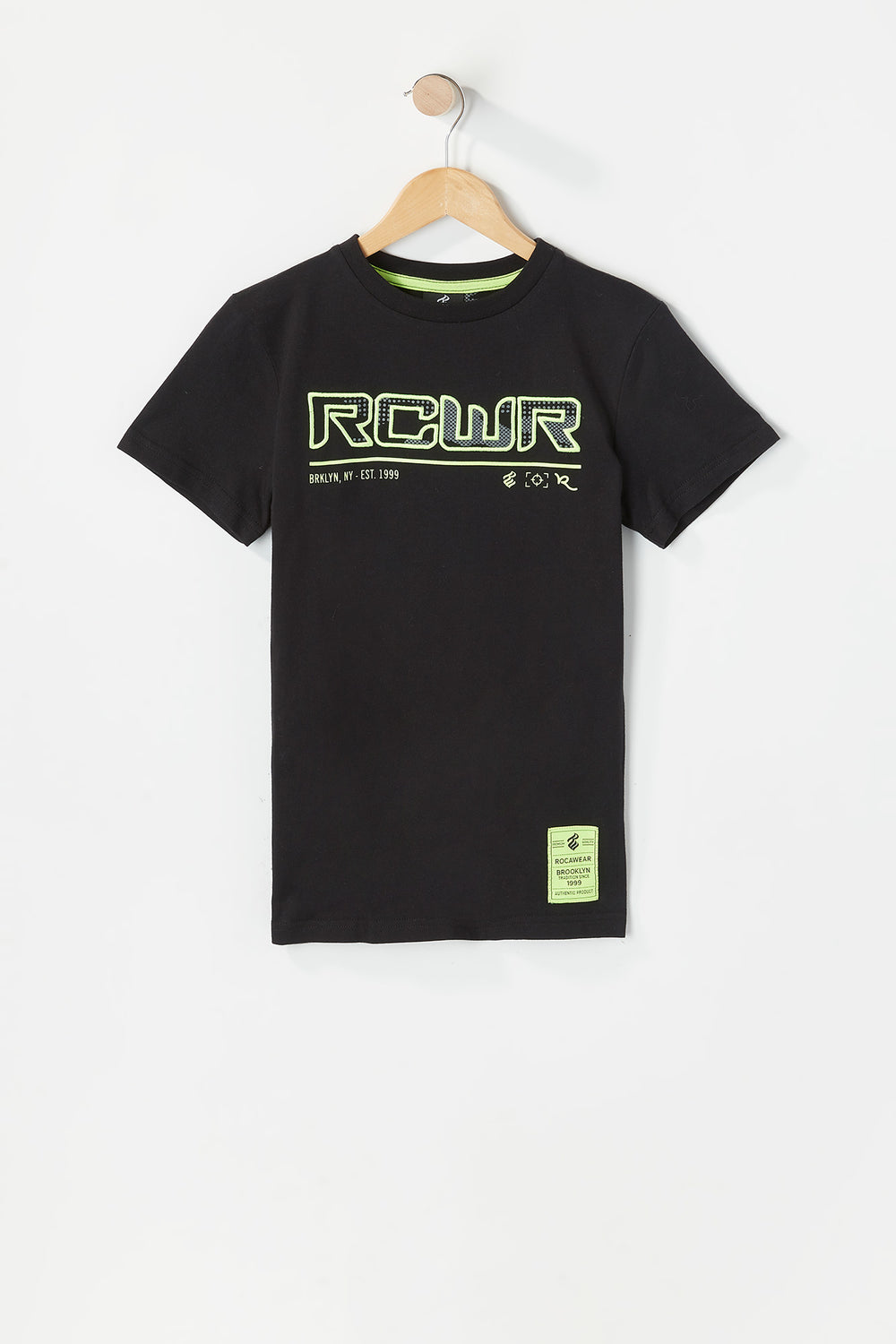 Boys Rocawear Embroidered Camo Graphic T-Shirt Black