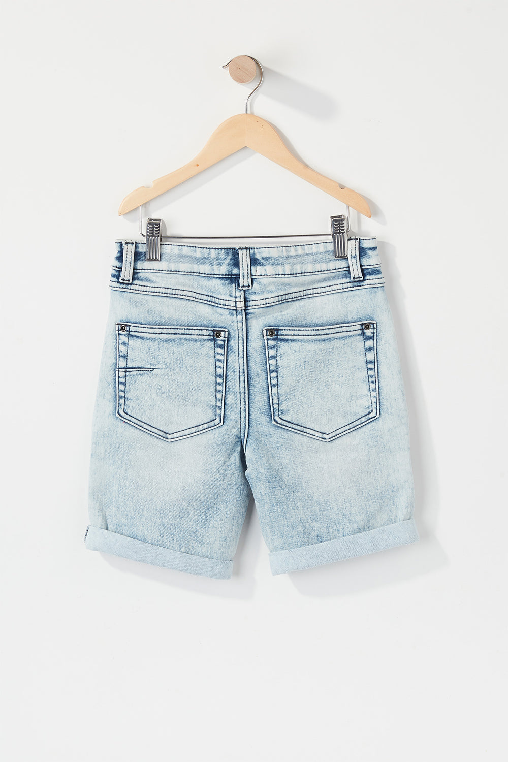 Boys Moto Slim Denim Short Light Denim Blue