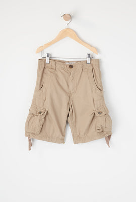 Boys Solid Cargo Short