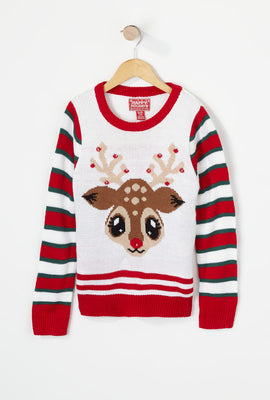 Youth Rudolph Light Up Ugly Christmas Sweater