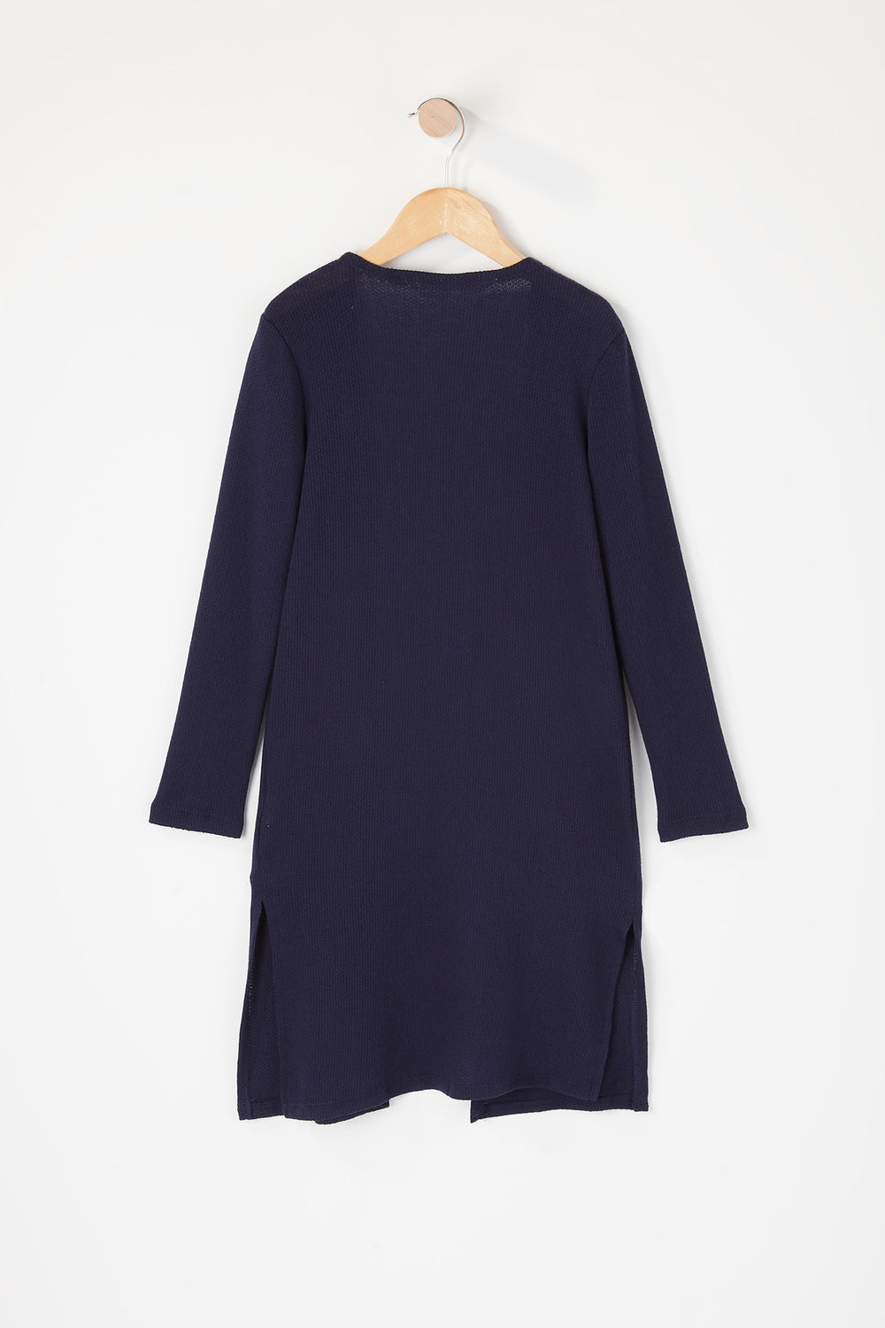 Girls Knit Open Front Cardigan Navy