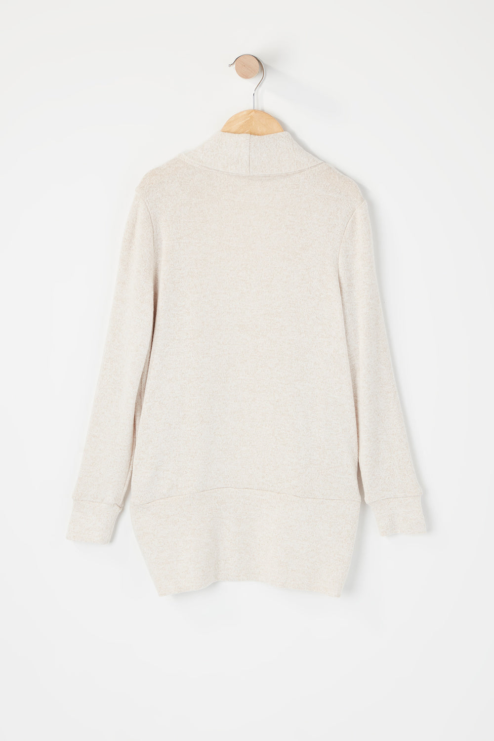 Girls Open Front Cocoon Cardigan Oatmeal