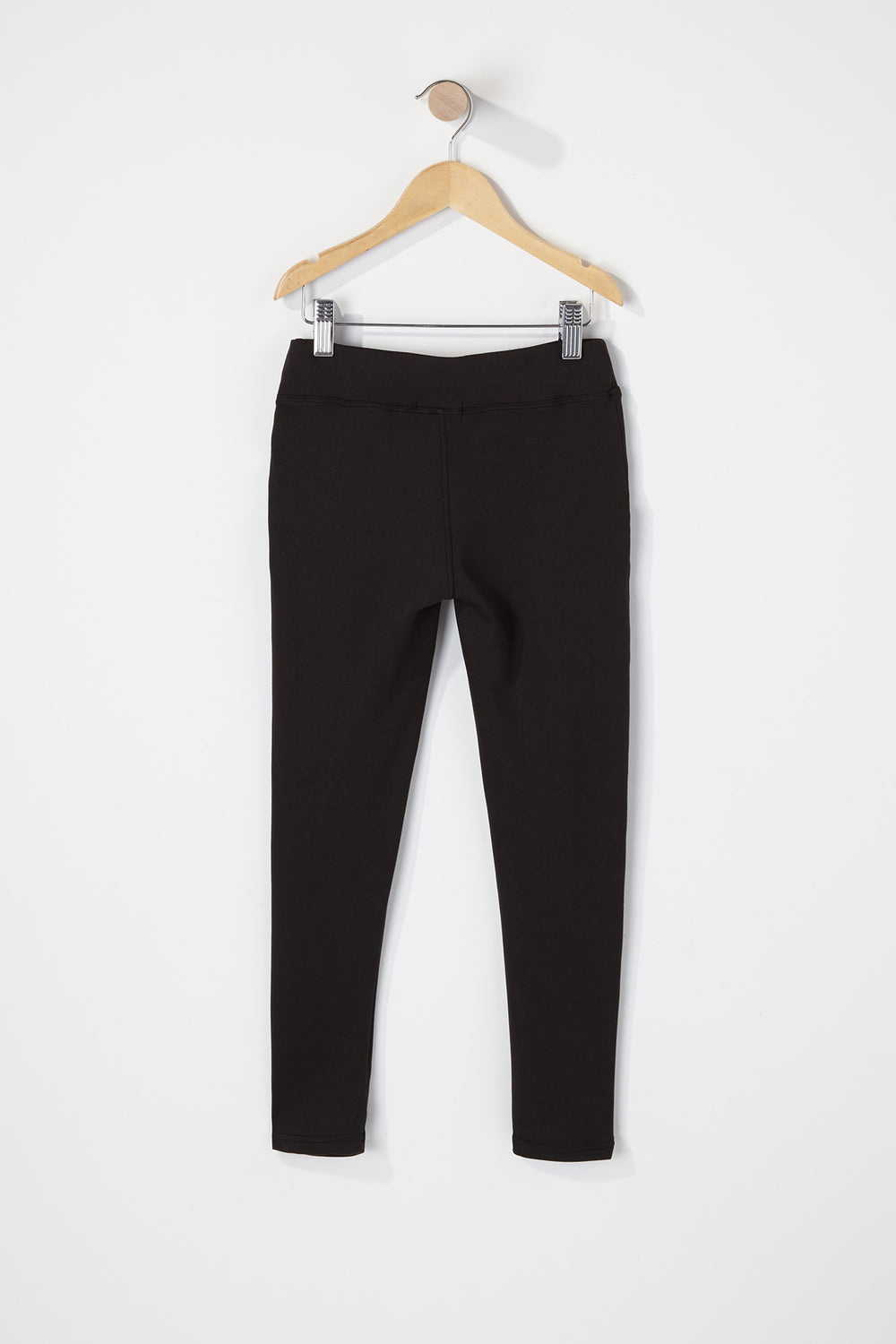 Girls Zip Legging Black