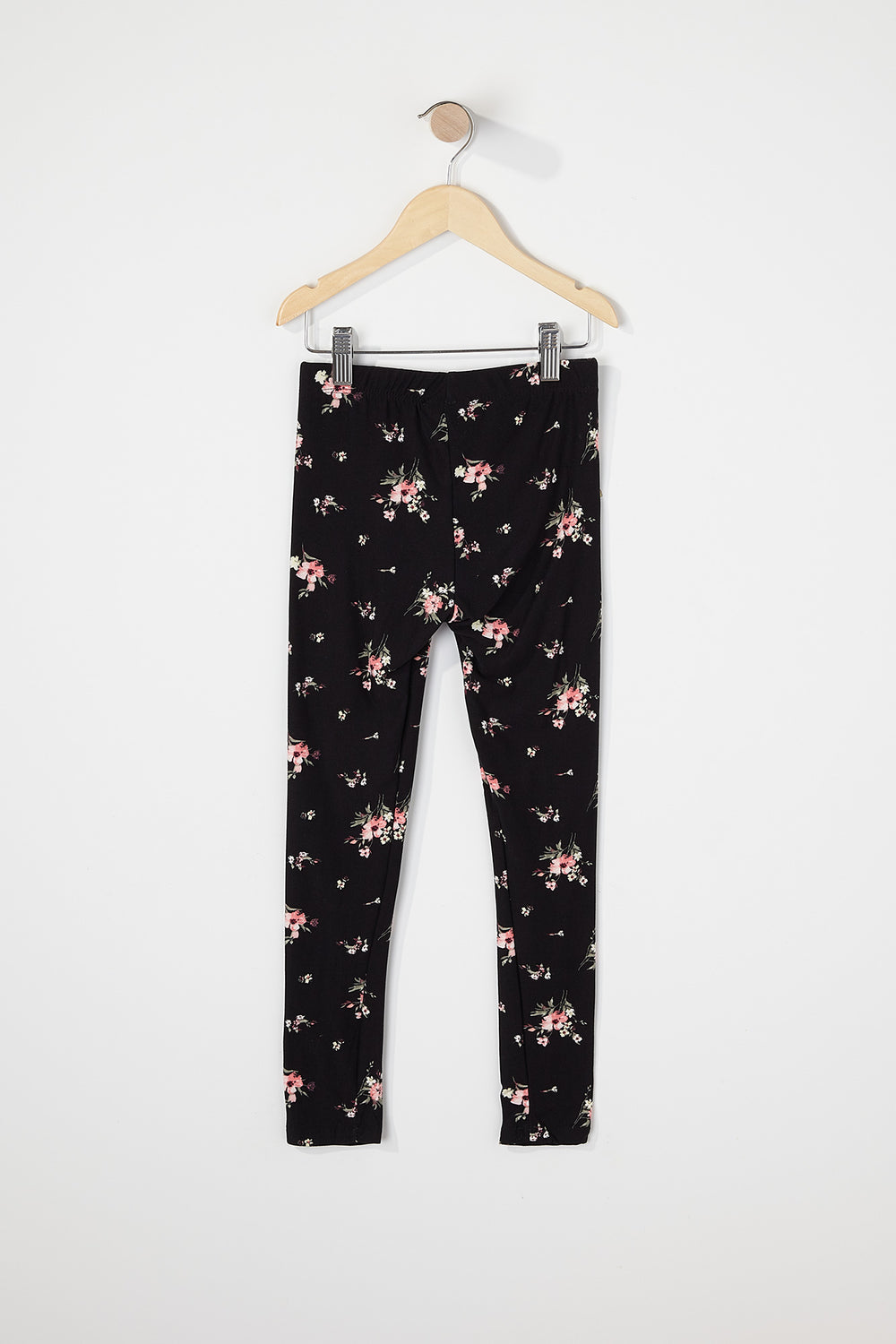 Girls Soft Graphic Floral Legging Black