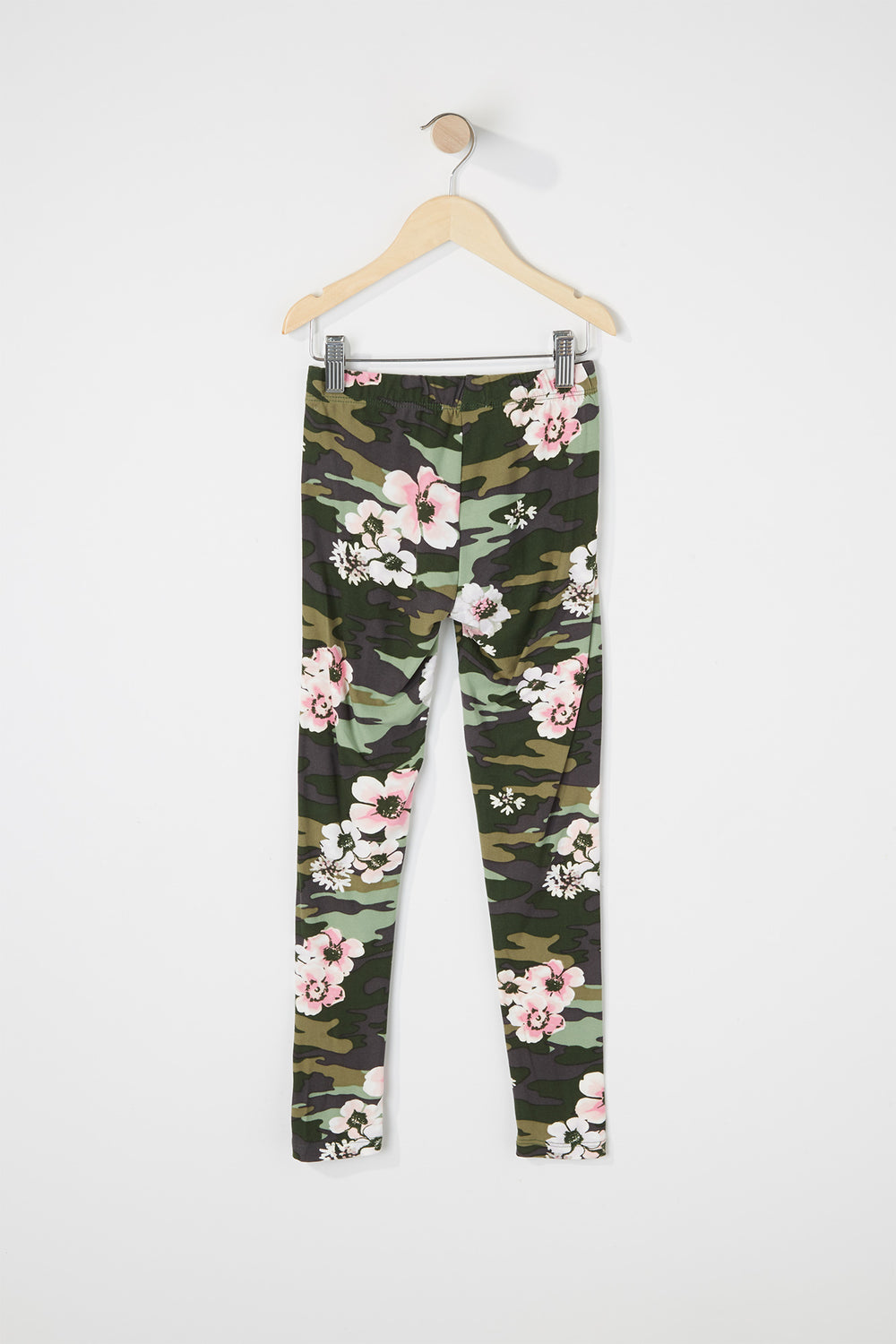 Girls Floral Camo Soft Legging Camouflage