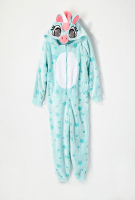 Youth Blue Unicorn Star Onesie